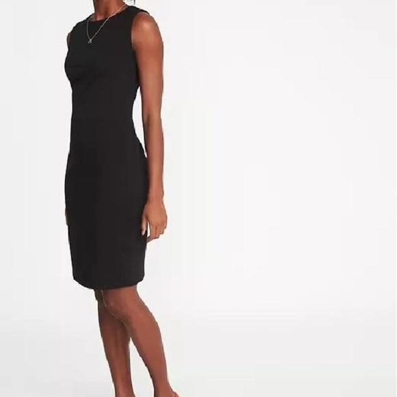 8aad04ca5de95 Old Navy Ponte Knit Sheath Dress Large Black v787